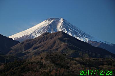 2017年12月28日の富士山写真