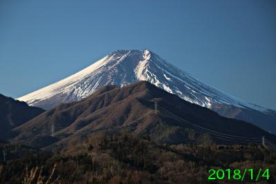 2018年1月4日の富士山写真