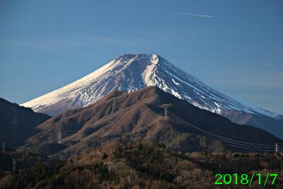 2018年1月7日の富士山写真