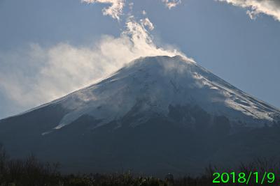 2018年1月9日の富士山写真