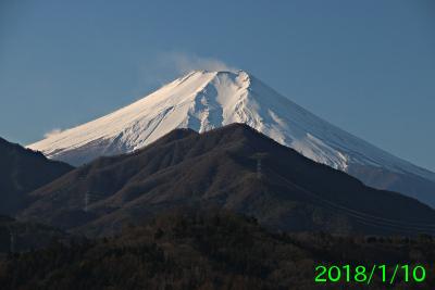 2018年1月10日の富士山写真