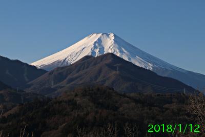 2018年1月12日の富士山写真