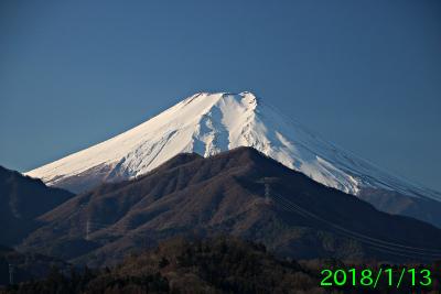 2018年1月13日の富士山写真