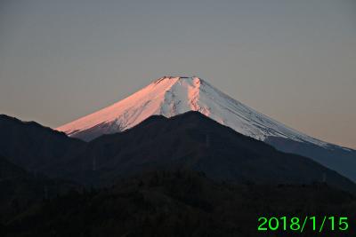 2018年1月15日の富士山写真