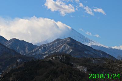 2018年1月24日の富士山写真