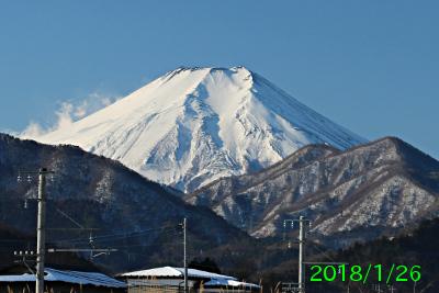2018年1月26日の富士山写真