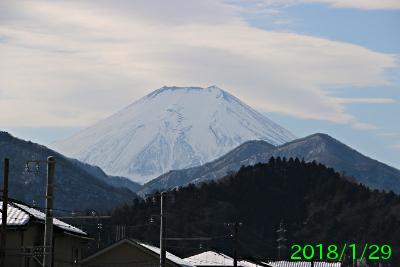 2018年1月29日の富士山写真