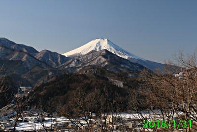 2018年1月31日の富士山写真