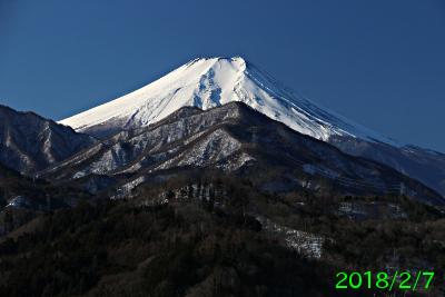 2018年2月7日の富士山写真