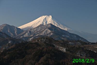 2018年2月9日の富士山写真