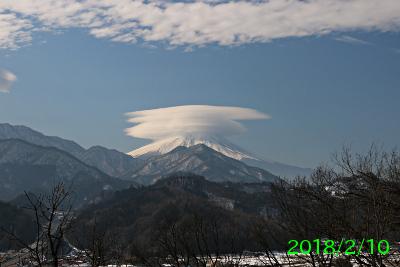 2018年2月10日の富士山写真