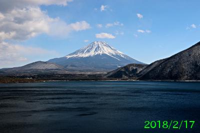 2018年2月17日の富士山写真