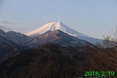 2018年2月19日の富士山写真