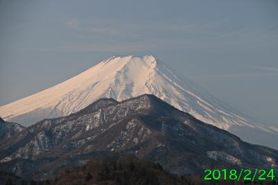2018年2月24日の富士山写真
