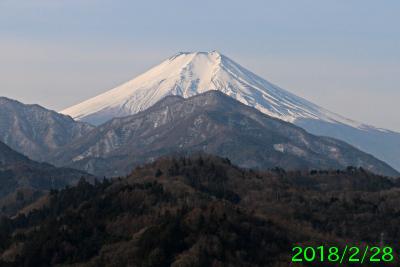 2018年2月28日の富士山写真
