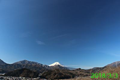 2018年3月3日の富士山写真