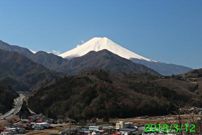 2018年3月12日の富士山写真