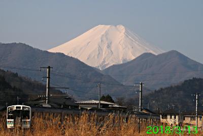 2018年3月13日の富士山写真