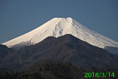 2018年3月14日の富士山写真