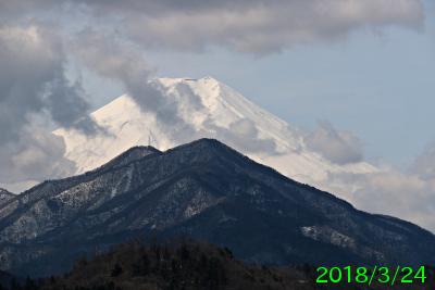 2018年3月24日の富士山写真