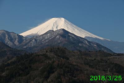 2018年3月25日の富士山写真