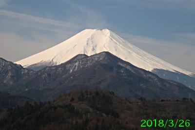 2018年3月26日の富士山写真
