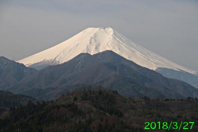 2018年3月27日の富士山写真
