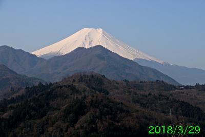 2018年3月29日の富士山写真