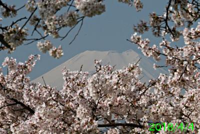 2018年4月4日の富士山写真