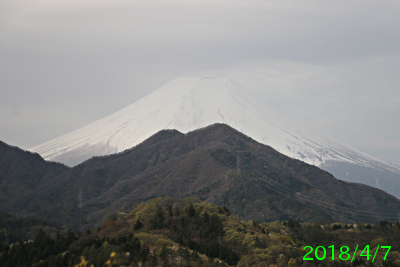 2018年4月7日の富士山写真