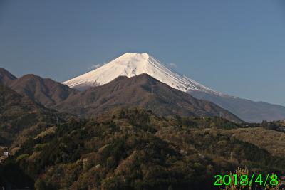 2018年4月8日の富士山写真