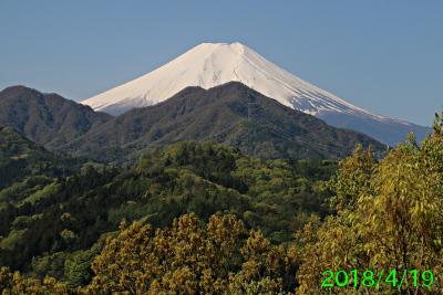 2018年4月19日の富士山写真