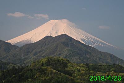 2018年4月20日の富士山写真