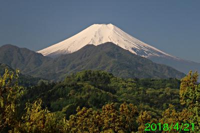 2018年4月21日の富士山写真