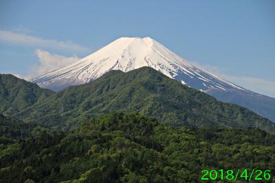 2018年4月26日の富士山写真