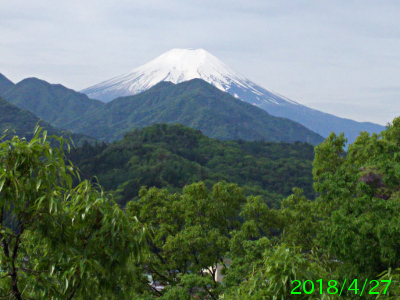 2018年4月27日の富士山写真