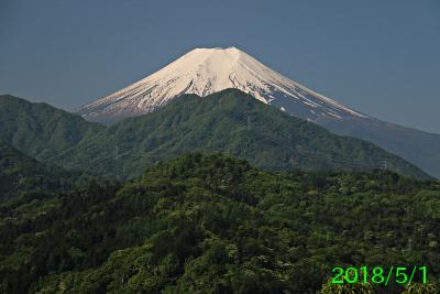 2018年5月1日の富士山写真