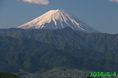 2018年5月4日の富士山写真