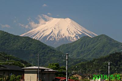 2018年5月5日の富士山写真