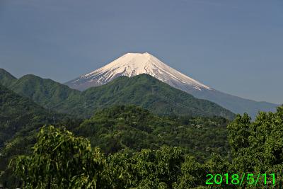 2018年5月11日の富士山写真