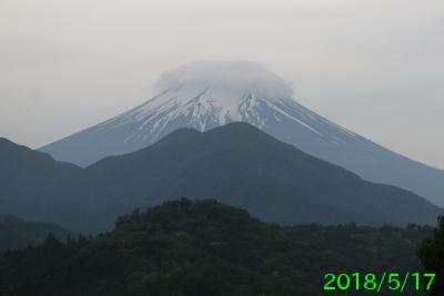 2018年5月17日の富士山写真