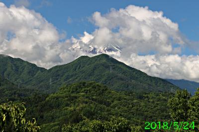 2018年5月24日の富士山写真