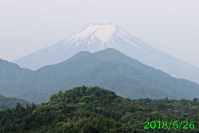 2018年5月26日の富士山写真