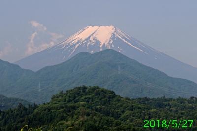 2018年5月27日の富士山写真