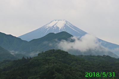 2018年5月31日の富士山写真