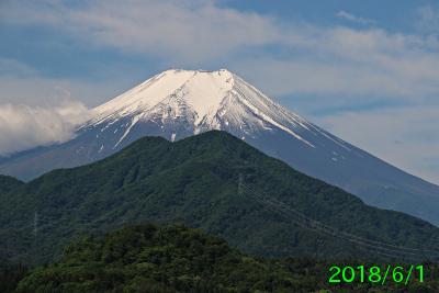 2018年6月1日の富士山写真