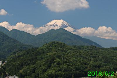 2018年6月2日の富士山写真