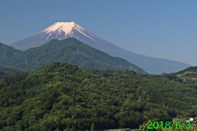 2018年6月3日の富士山写真