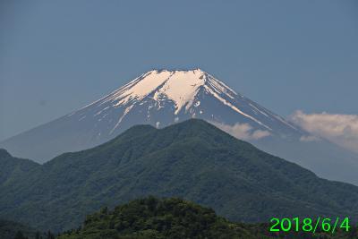 2018年6月4日の富士山写真