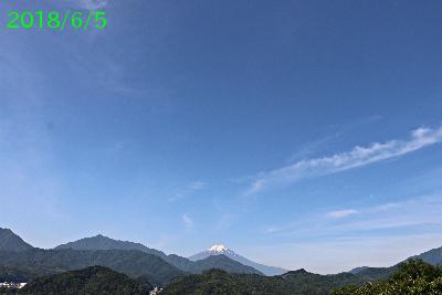 2018年6月5日の富士山写真